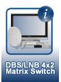 DBS/LNB 4x2 Matrix Switch